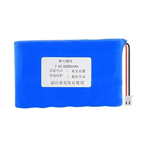 hsvgjsfa Batería De 7.4v 9000mah 18650, Recargable con El Enchufe para El Paquete del Banco del Poder