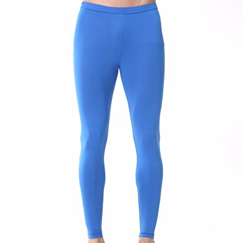 Henri maurice Mens Compression Pants Leggings Tights Underwear Base Layer Long Bottoms EP BL L Blue
