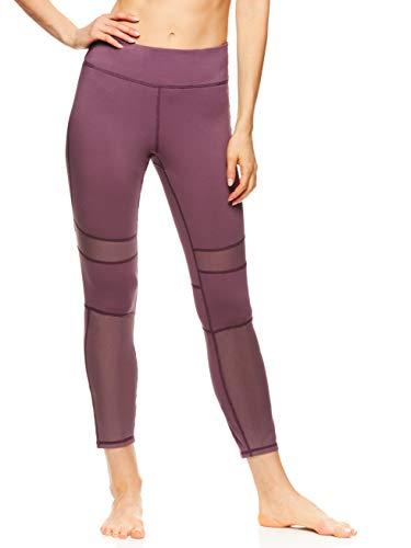 gaiam Damen 7/8 Yoga-Hose, hohe Taille, Kompressions-Workout-Leggings - Grün - Mittel