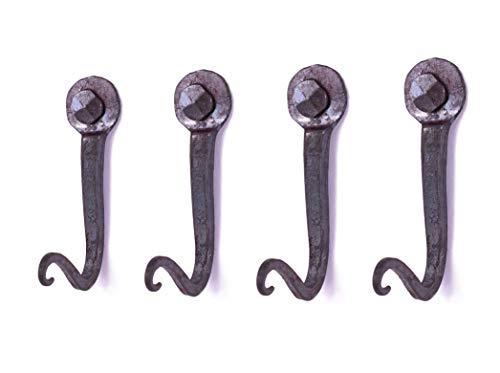 Kleiderhaken Vintage - 2-8 Stück - 100% Handarbeit - Personalisierbarer Garderobenhaken Vintage Garderobe -Haken im Retro Look für Schlüssel