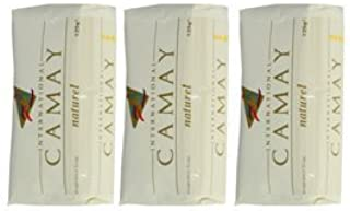 International Camay Natural Soap, Pack of 3 x 125g