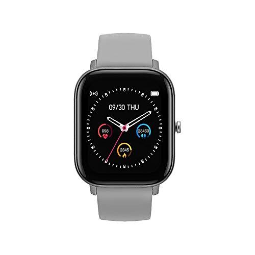 FossenMA P8 Smartwatch, Reloj Inteligente con Pulsómetro, Cronómetros, Calorías, Monitor de Sueño, Podómetro Monitores de Actividad Impermeable IPX7 Smartwatch Reloj Deportivo para Android iOS (Gris)