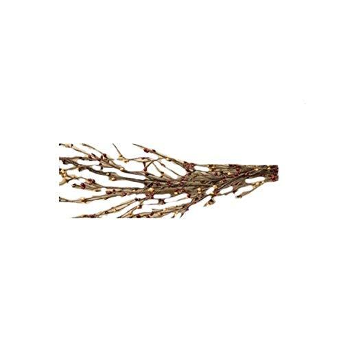 CWI Gifts Wispy Pip Berry Garland, 4-Feet, Burgundy/Gold