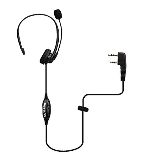 Retevis Two Way Radio Earpiece with Mic Noise Cancelling Headset