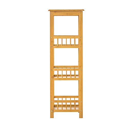 GYAO-Scaffali porta piante Multi-Small Flower Mensola Quadrata in Legno massello a più Strati per Balcone Vaso portafiori Ikea Pavimento da Salotto Tavolo da Fiore Colore Legno (Size : 30x32x100cm)
