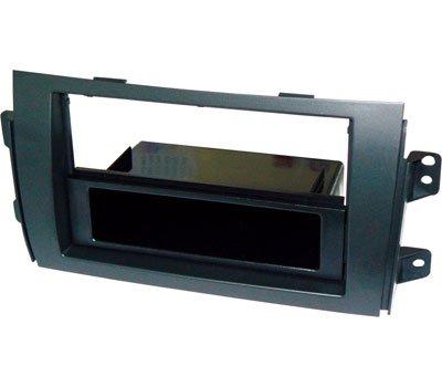 Mascherina per autoradio 1 DIN cassetto portaoggetti rimovibile. Adattatore compatibile con vari modelli auto presenti nella sezione 'DESCRIZIONE'