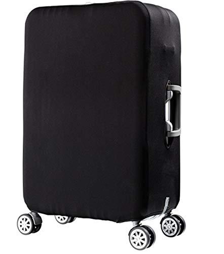 スーツケースカバー 伸縮素材 無地 黒 キャリーバッグ カバー トランクカバー 耐久性 お荷物カバー 防塵カバー 人気 おしゃれ かわいい S M L XL/Z748 (M, 黒無地)