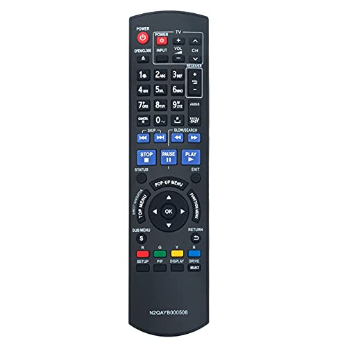 VINABTY N2QAYB000508 Control Remoto para Panasonic Reproductor de DVD BLU-Ray DMP-BDT300 DMP-BDT350