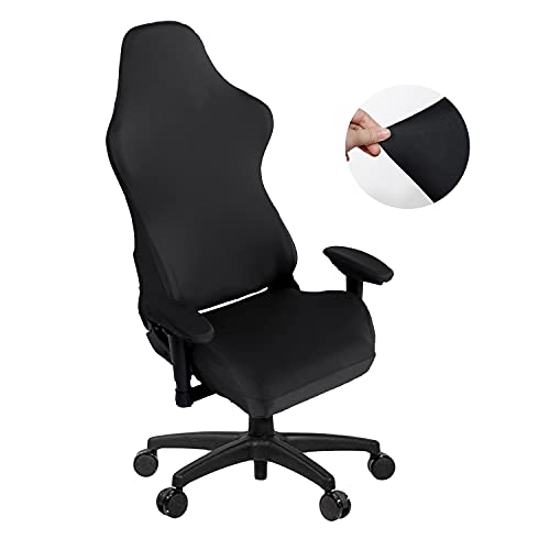 SARAFLORA Gaming Chair Covers Stretch Washable Computer Chair Slipcovers for Armchair, Swivel Chair, Gaming Chair,Computer boss Chair (Black, X-Large)