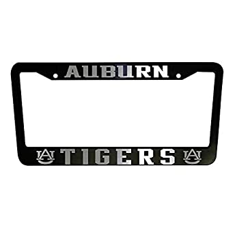 First Rober Auburn Tigers University Aluminum Alloy Black License Plate Frame Stainless Metal Tag Holder 12  X 6
