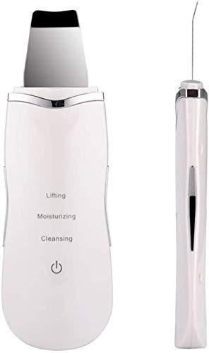 HWXDH Épurateur de la Peau du Visage, pour Les Femmes Remover Acné Lifting du Visage ION Peeling Shovel Facial Pore Cleaner Charge USB