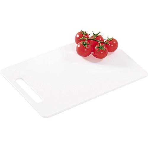 Kesper 30480 - Tagliere in plastica, 34 x 24 x 0,6 cm, Colore: Bianco
