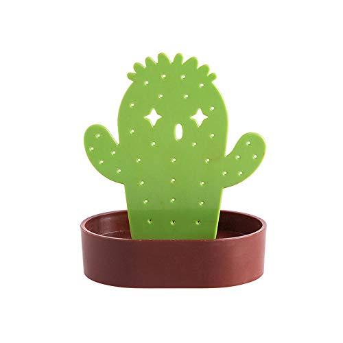 BEI&YANG Collar Pulsera Pendientes Organizador De Almacenamiento Joyería En Forma De Cactus Soporte De Exhibición Estante Caja Casa