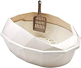 Open-Top kattenbakset bevat Scoop Kitty nestbak Pan met schildbehuizing Anti-Splash Huisdier reinigingsbenodigdheden Open ...