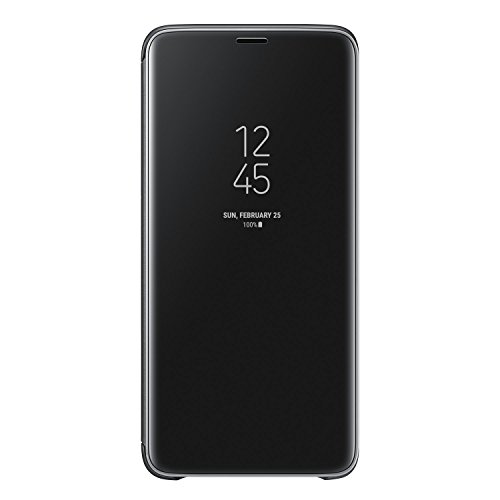 Galaxy S9+ (6.2インチ)用 Clear View Standing Cover 【Galaxy純正 国内正規品】 ブラック EF-ZG965CBEGJP