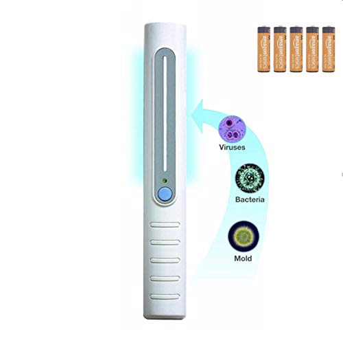 Ultraviolet UV Light Sanitizer Portable Sterilizing Wand, UVC Mini Light Disinfection Antibacterial Cleaner Hand Held for Hotels, Planes, and Home Germ Lamp Device