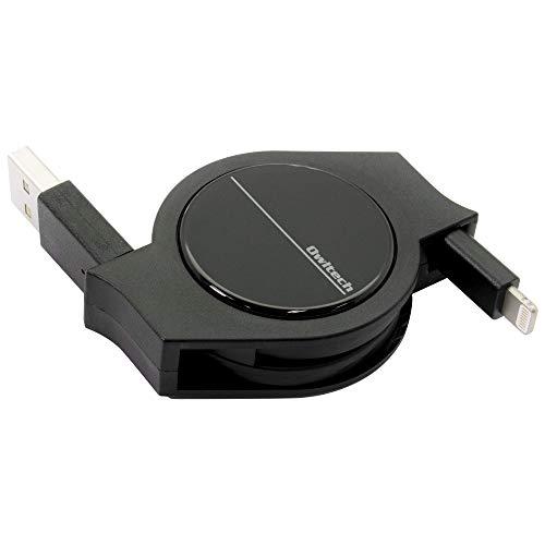 オウルテック 超タフシリーズ 巻取りライトニングケーブル Apple認証 iPhone/iPad 用 2年保証 120cm ブラッ...