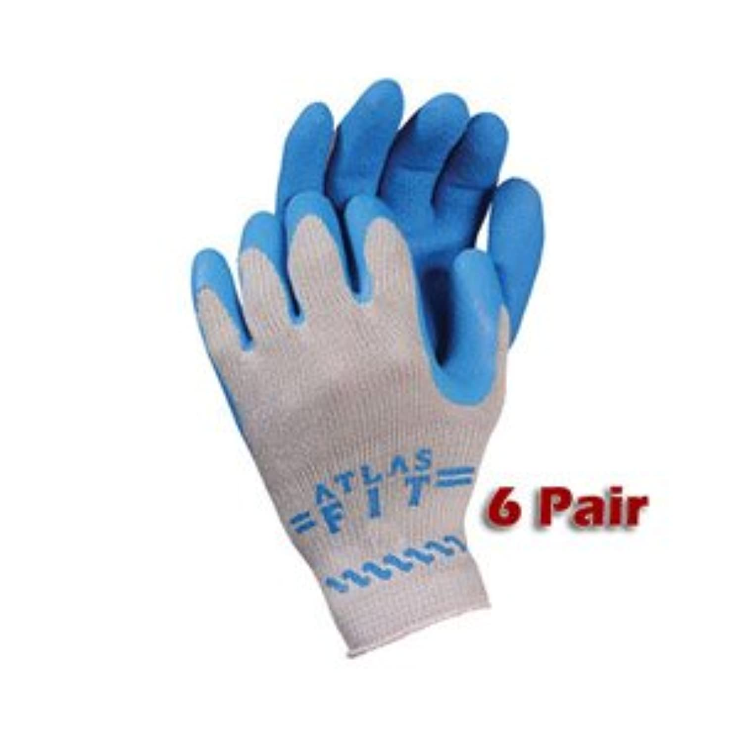 6 Pack Atlas Glove 300 Atlas Fit Super Grip Gloves - X-Large
