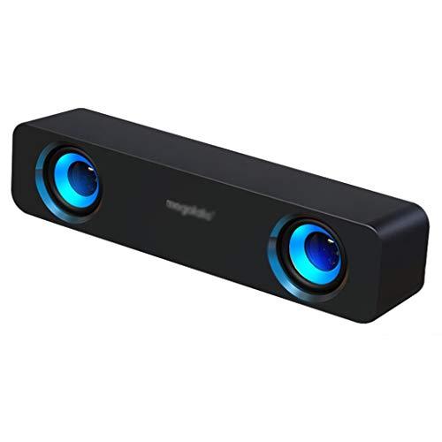 ZXQZ Altavoces inalámbricos, altavoces Bluetooth con sonido envolvente de 360°, subwoofer para teléfono, TV de escritorio, portátiles, altavoces móviles (color negro)