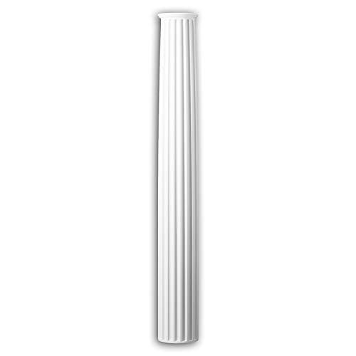 Fuste de columna Profhome 442201 Moldura de fachada Columna Elemento de fachada estilo iónico blanco