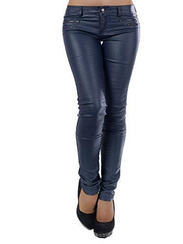 Damen Jeanshose Skinny L521, Größen 36 (S), Farben Dunkelblau
