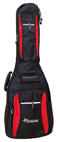 Rockstar GBD1002C 15mm. Funda De Guitarra Clásica española acolchada impermeable con bolsillo bolsa con correas negra