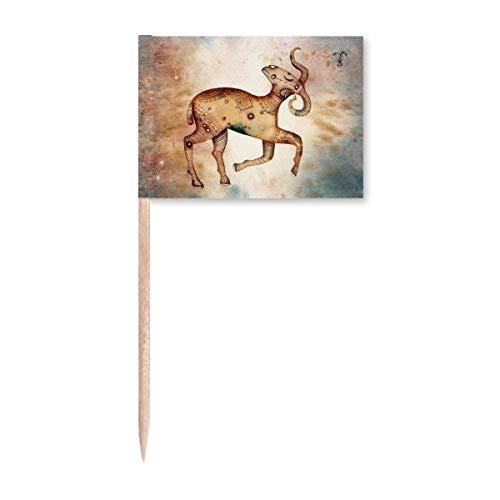 März April Widder Sternbild Sternzeichen Zahnstocher Flaggen Marker Topper Party Dekoration