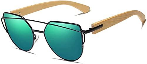 Gafas de sol hechas a mano de madera gafas de sol de bambú de los hombres s UV400 señoras diseño original gafas de madera