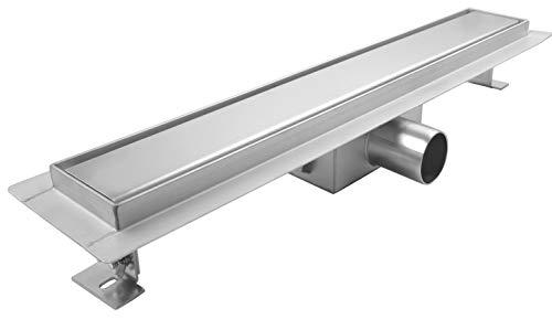 Duschrinne 90cm aus Edelstahl - Bodenablauf Duschablauf für ebenerdige Dusche Befliesbar - Ablaufrinne Siphon mit Geruchsstop Größen 50cm - 120cm Modell: Lera