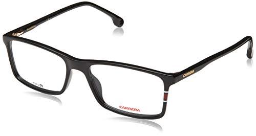 Carrera 175 Gafas, Negro Brillante, 55 Unisex Adulto