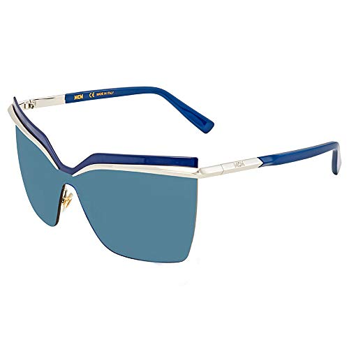 MCM Damen MCM106S-045 Sonnenbrille, Plateado-Azul, 65/19/135