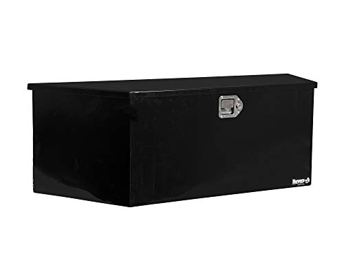 Buyers Products Black Steel Trailer Tongue Truck Box (15x14.5x34/22.5 Inch)