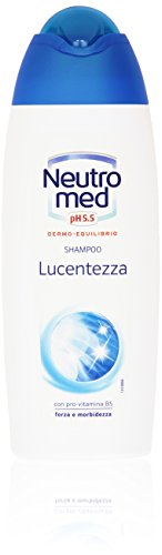 Neutromed - Lucentezza, Shampoo Con Pro-Vitamina B5, Forza E Morbidezza - 250 Ml