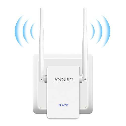 JOOWIN Ripetitore WiFi Wireless 300Mbps WiFi Extender Amplificatore del Segnale Single Band 2.4GHz Wi-Fi Porta LAN, 2 Antenne, Pulsante WPS, modalità Ripetitore/Router/AP