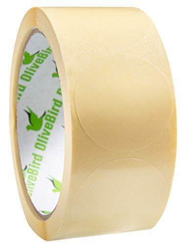 500 Klebepunkte Transparent Rund Etiketten Größe 4 cm Durchmesser / 40mm Rollen von 500 Stück Aufkleber