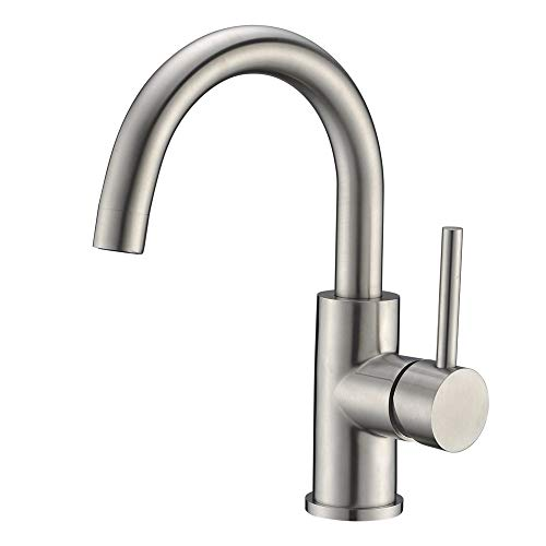 Bar Sink Faucet Crea Stainless Steel Farmhouse Bathroom Lavatory Sink Faucet Mixer,Small Kitchen...