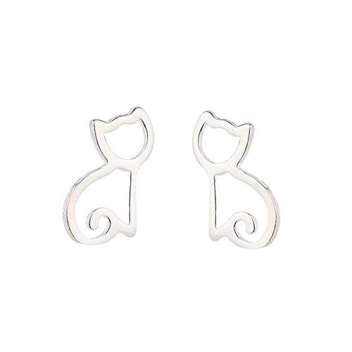 YZYZ Pendientes de aleación con diseño de gato y animales pequeños, para mujeres y niñas, accesorios sencillos, regalo