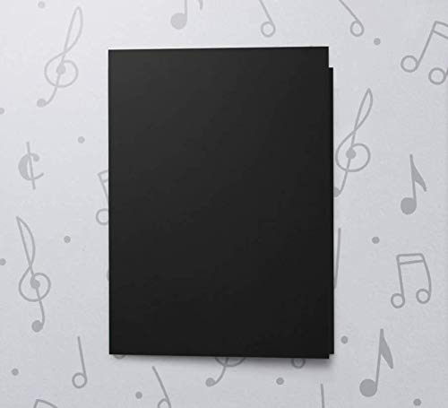 120s CARD 5x7 (BLACK) RECORDABLE chip sound music voice talking musical greeting