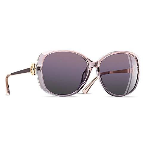 YNJZ Gafas de sol polarizadas para mujer de lujo 2020 Gafas de sol para mujer Gafas de sol con rhinestone para mujer Gafas UV400, C4 Rosa claro