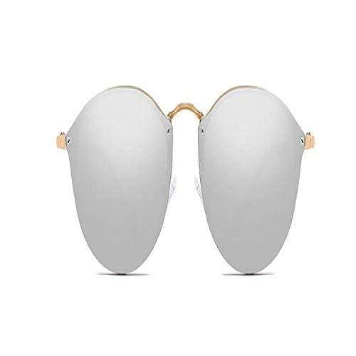 Gafas De Sol Polarizadas Gafas De Sol De Ojo De Gato para Mujer A La Moda, Gafas De Sol Sin Montura De Espejo con Patas De Metal De Diseño De Marca para Mujer, Gafas Uv400 C7