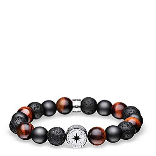 BERING Herren-Armband Arctic Sailing Lava-Beads 631-641-X0, Länge:18 cm