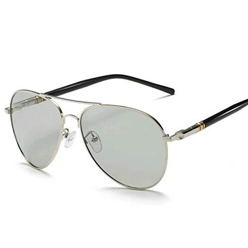 Gafas de Sol Sunglasses Gafas De Sol Polarizadas Piloto Fotocromáticas Clásicas para Hombre, Gafas De Sol con Decoloración De Camaleón para Conducir, Gafas De Sol Masculi