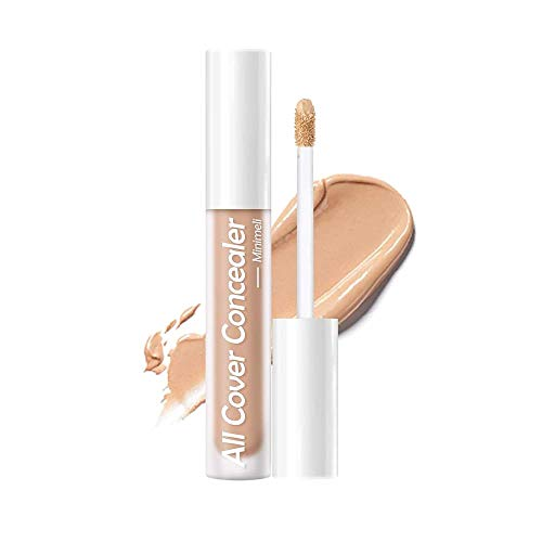 3pcs Full Coverage Concealer Makeup Liquid Long Lasting Corrector Concealer Covers Eye Circles Imperfection Blemishes Dark Spots Face Flawless Smooth Lightweight Makeup