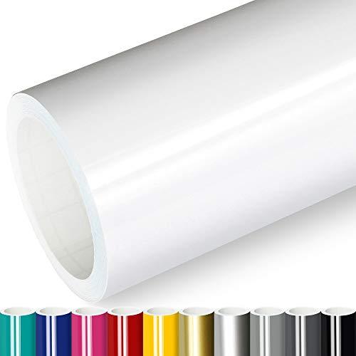 Actinium® Klebefolie 5€/m² Weiss Glanz | 5m x 0,63m selbstklebende Folie glänzend | Möbelfolie selbstklebend Küchenfolie Plotterfolie