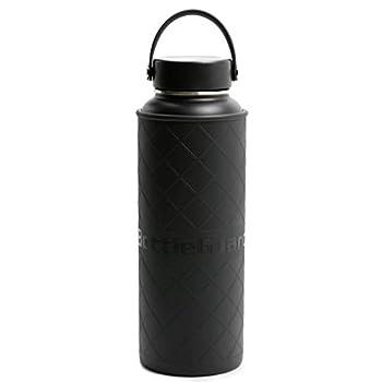 BottleGuard TPU Rugged Bottle Sleeve Skin Protector for 40oz Hydro Flask ThermoFlask Stainless Steel Bottles  Black