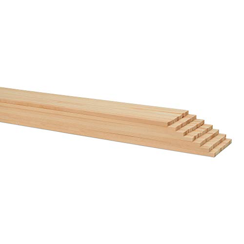 1/4 x 12 Inch Square Dowel Rods, Bag of 25 Unfinished Wooden Square Dowel Sticks. by Woodpeckers