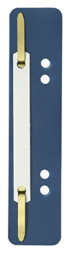 ELBA 100555009 Einhänge-Heftstreifen und Deckleiste | 25er Pack | aus PP | blau