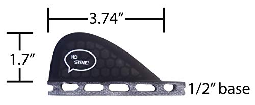 Ho Stevie! Stabilizer Surfboard Fin (Center/5th Fin) FCS or Futures Sizes + Fin Key and Screws 2 🏄♂️ The 5th stabilizer fins adds more control and smoothness to your quad fin setup. 🔩 FIN KEY and SCREWS INCLUDED. Choose from Futures or FCS. (FCS will work with FCS II plugs) ⚖️ LIGHTWEIGHT Honeycomb Fiberglass construction. Perfectly matches our Honeycomb Fiberglass quad surfboard fins.