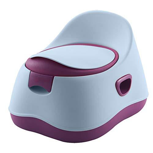 AUEDC 3-in-1Toilet Trainer Potty Chair and Step Stool Design séparé Tasse à déchets Amovible Design Anti-éclaboussures Stable et antidérapant pour garçons et Filles,Bleu
