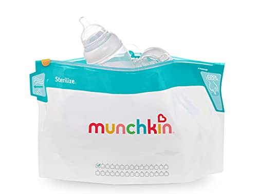 Munchkin Cool Touch Microwave Steriliser Bags, Pack of 6 Reusable Bags